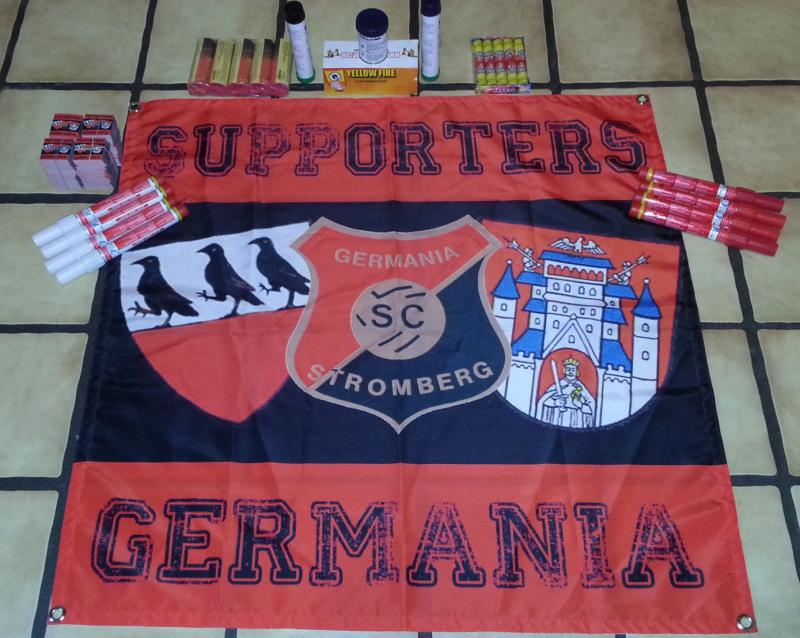 SC Germania Stromberg, SC Germania Stromberg Fahne - Banner Supporters Germania