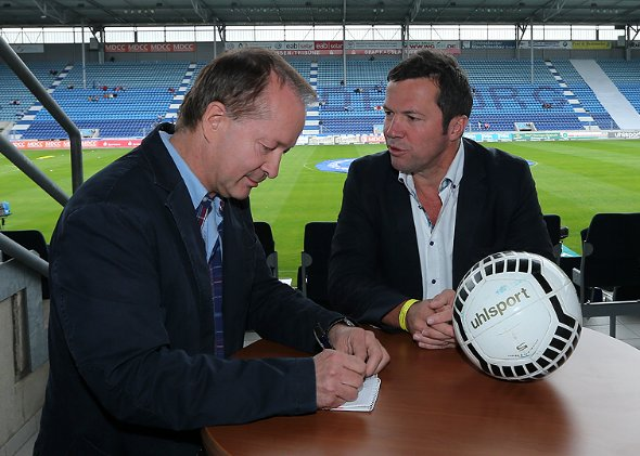 Photo of Lothar Matthäus & his friend   -