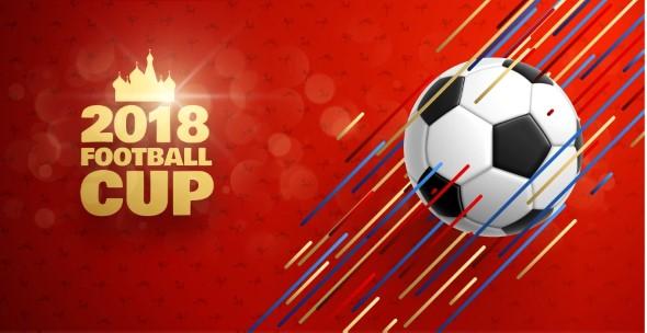 Vektorgrafik zum World Cup bzw. zur Weltmeisterschaft 2018 in Russland